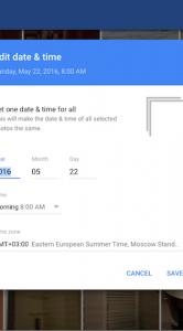 Google Foto's datum en tijd