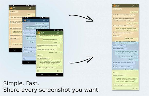 Plak WhatsApp-screenshots aan elkaar met Stitch & Share