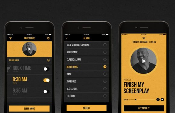Dwayne 'The Rock' Johnson brengt motiverende wekker-app uit