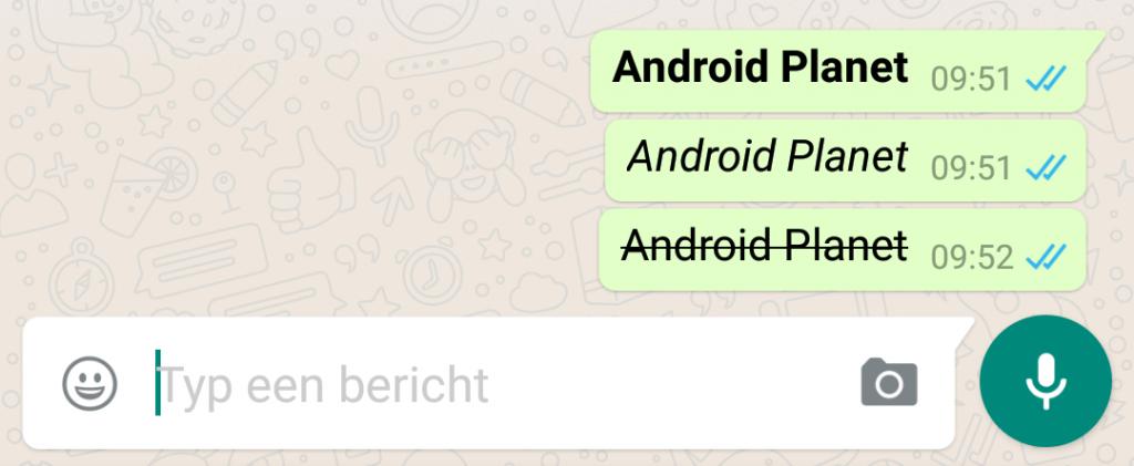 whatsapp opmaak