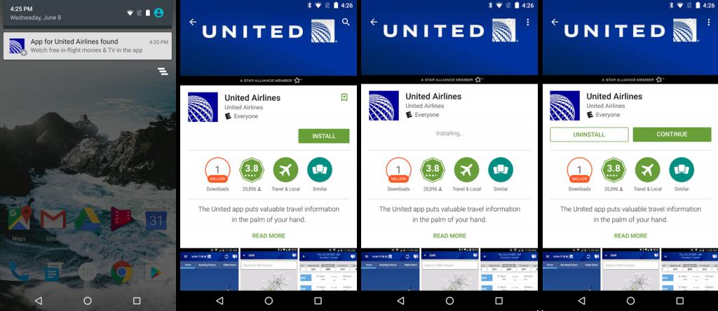 Android apps op locatie