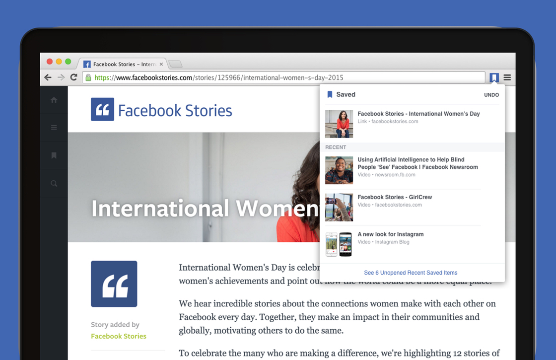 Nieuwe Facebook Chrome-extensies maken delen en bewaren makkelijker