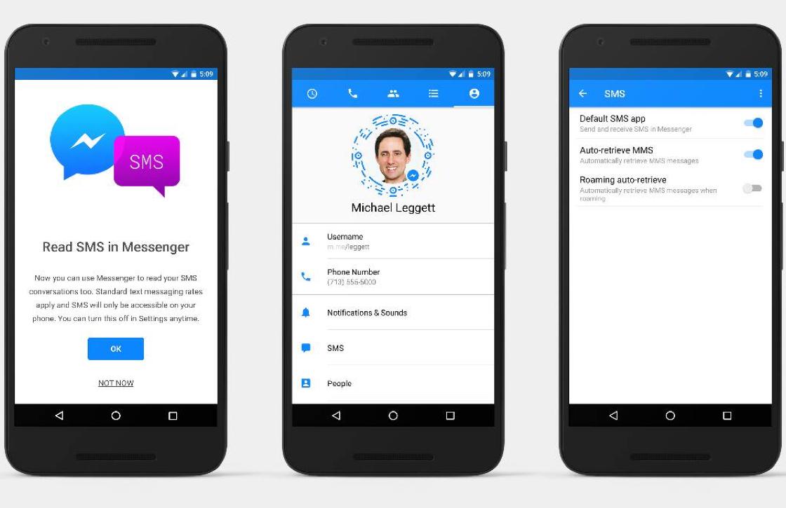 Facebook Messenger voegt sms-functie toe aan Android-app