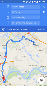 Google Maps tussenstop