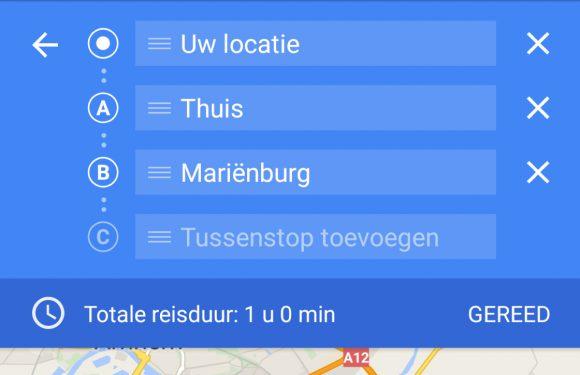 Zo voeg je een tussenstop toe aan je Google Maps-route