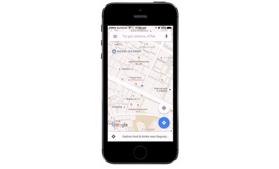 Google Maps vertaalt winkelnamen
