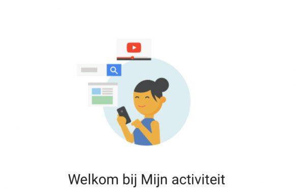 Met 'Mijn activiteit' zie je welke gegevens Google over jou verzamelt