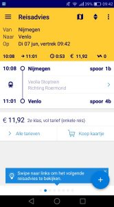 NS Reisplanner treinkaartjes