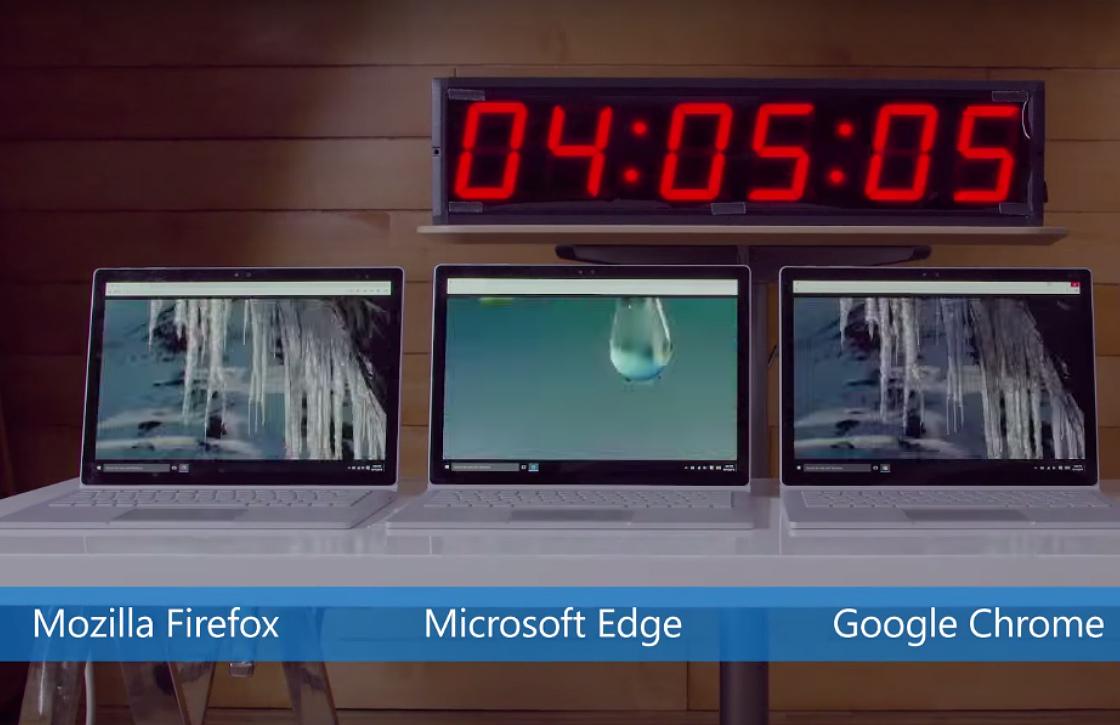 Video: Microsoft toont zwaar accugebruik Chrome aan in test