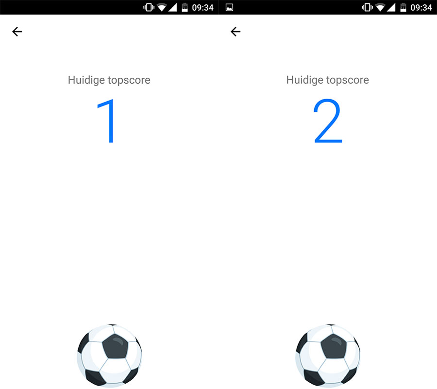 Facebook Messenger voetbal