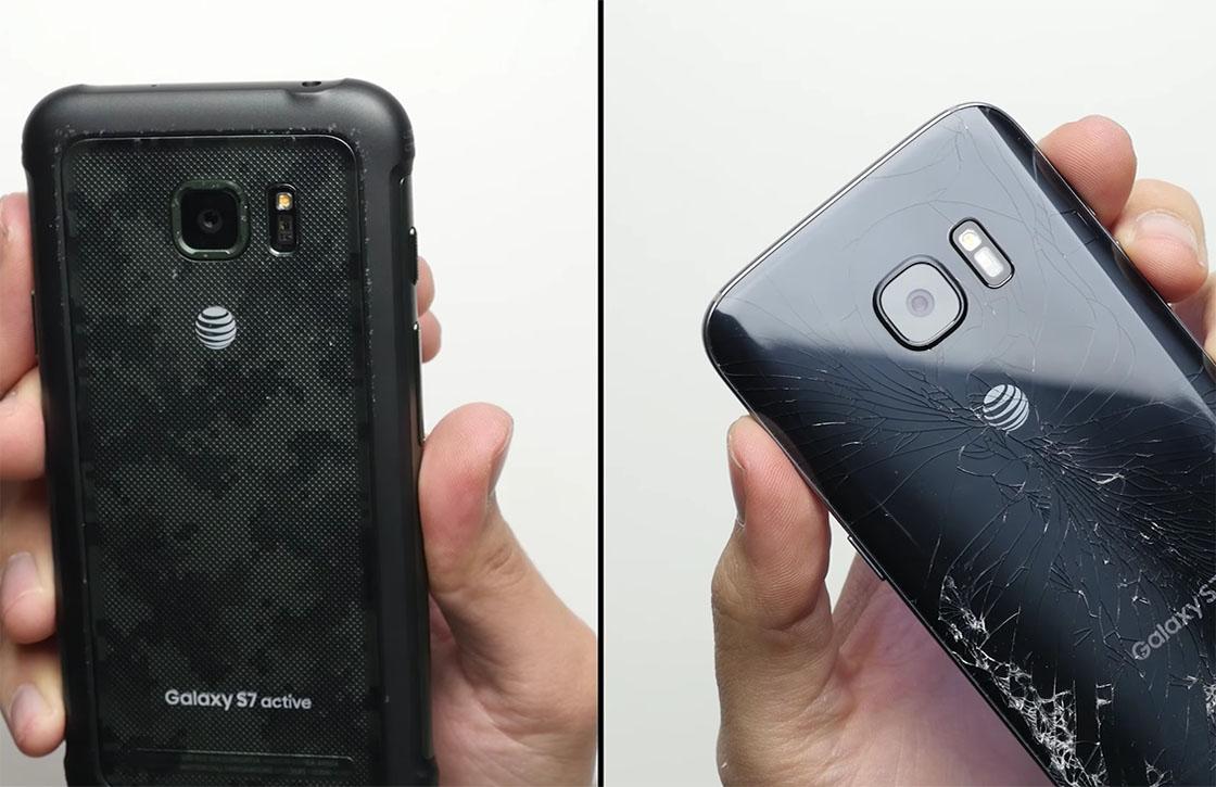 Video: zoveel steviger is de Galaxy S7 Active dan de S7