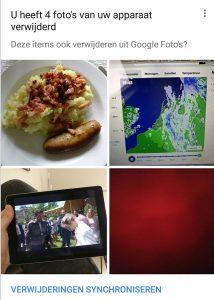 google foto's verwijderingen