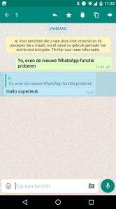 WhatsApp antwoorden