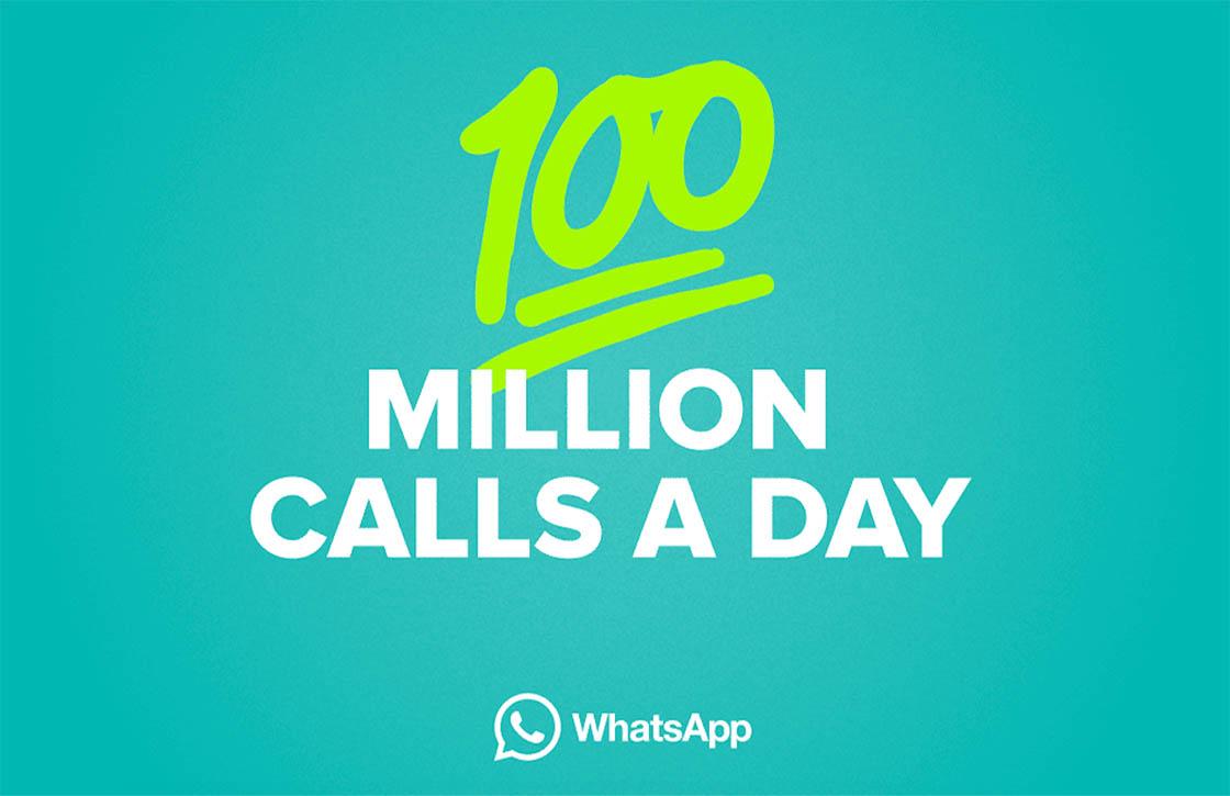 WhatsApp verwerkt ruim 100 miljoen telefoontjes per dag