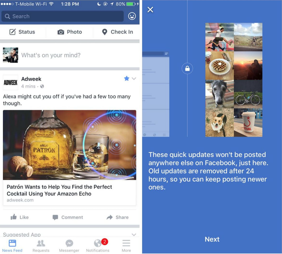 Facebook Quick Updates