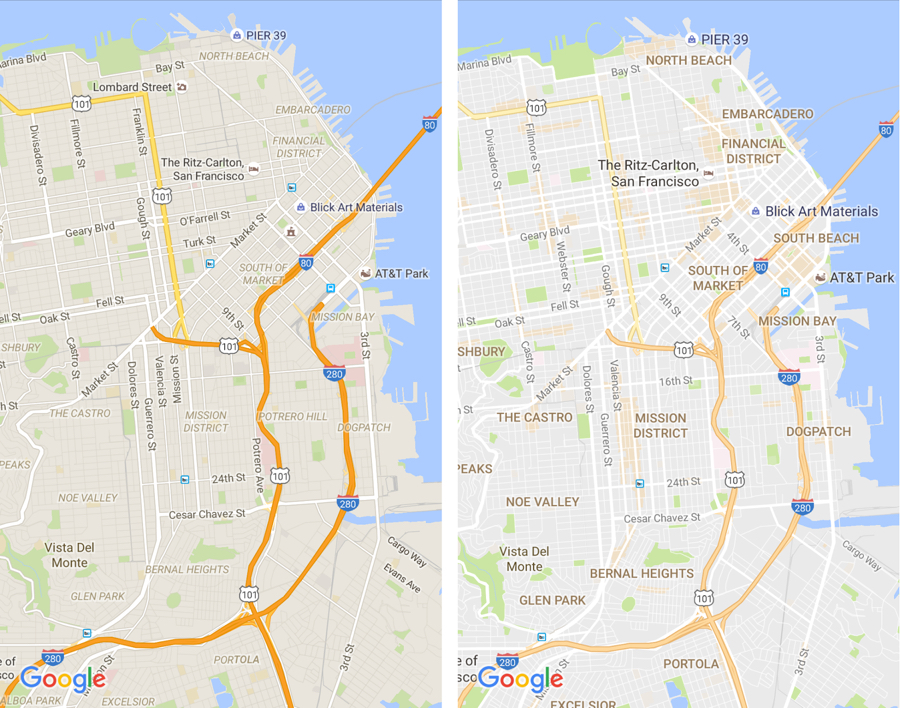 Google Maps design update