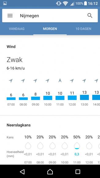 Google Weersvoorspellingen