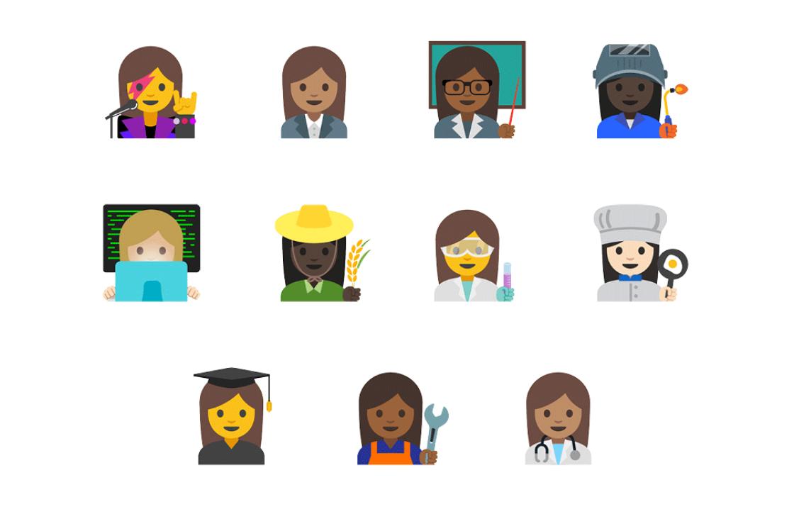 Unicode keurt Googles voorstel voor meer diverse emoji goed