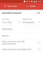 gmail automatisch antwoord