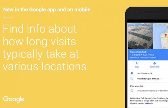 Google geeft nu aan hoeveel tijd mensen ergens besteden
