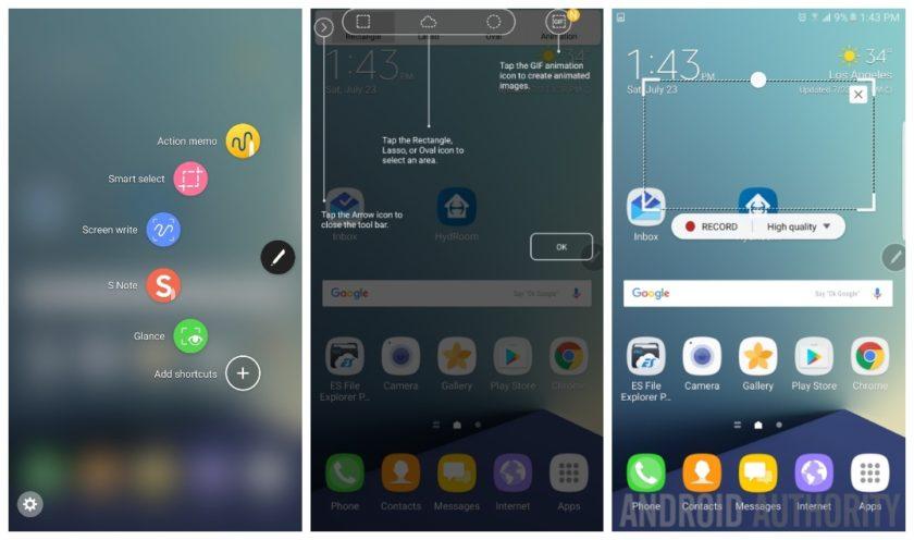 Samsung Galaxy Note 7 S Pen functies