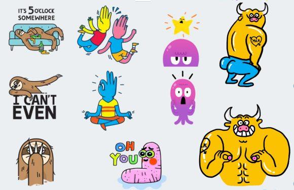 Zo zien de stickers in Allo er uit