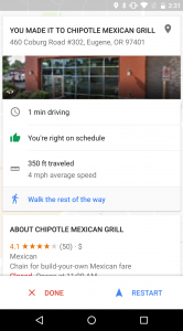 Google Maps snelheidslimiet