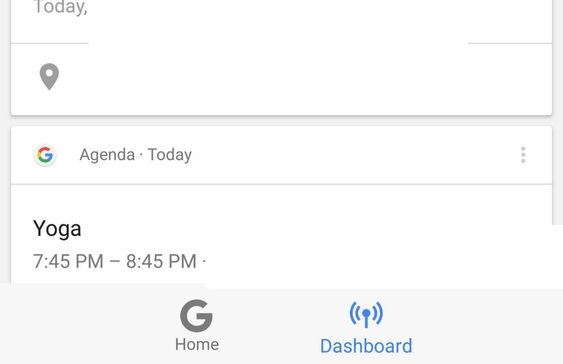 Google Now Dashboard-tab brengt informatie van andere diensten samen