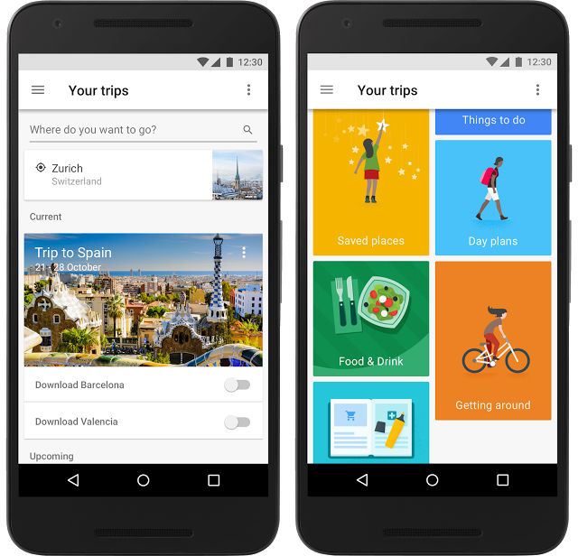 Google Trips-app
