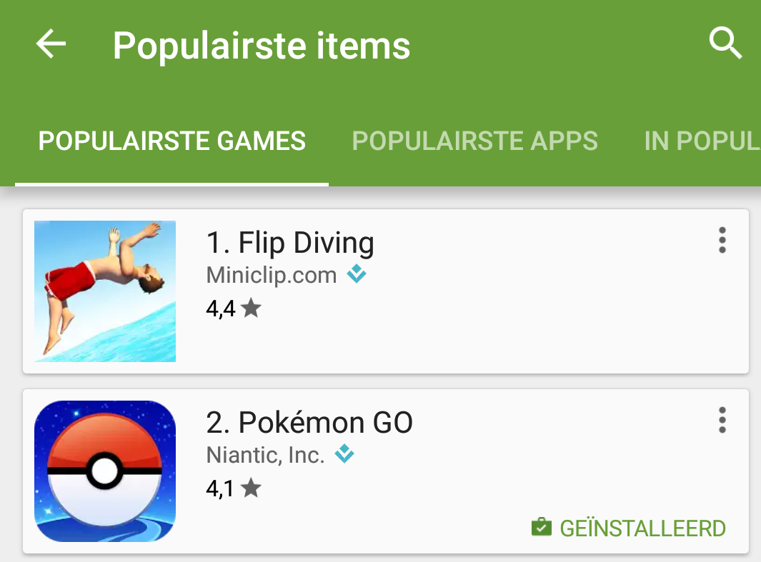 play store mb's