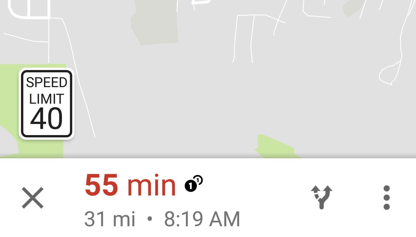 Google Maps snelheidslimiet update