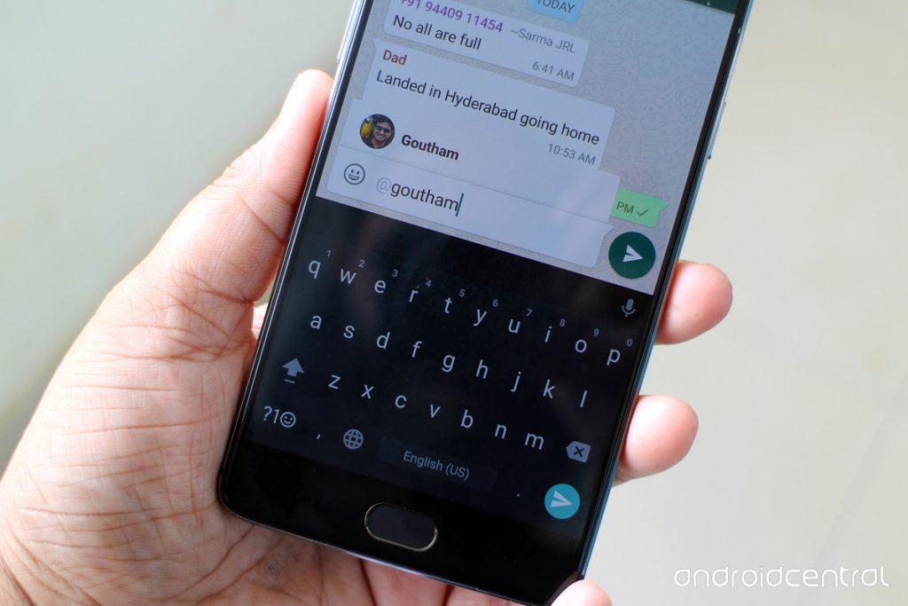 WhatsApp Mentions