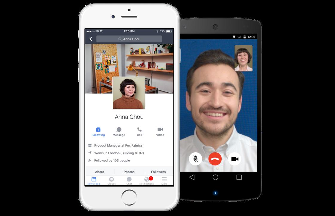 Facebook Workplace app