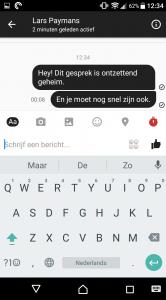 Facebook Messenger geheim gesprek