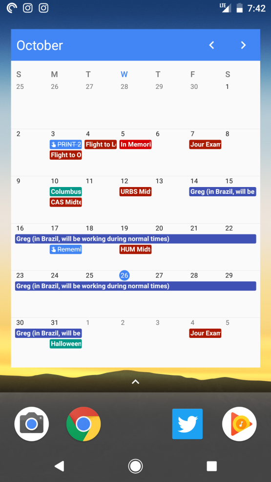 Google Agenda-widget