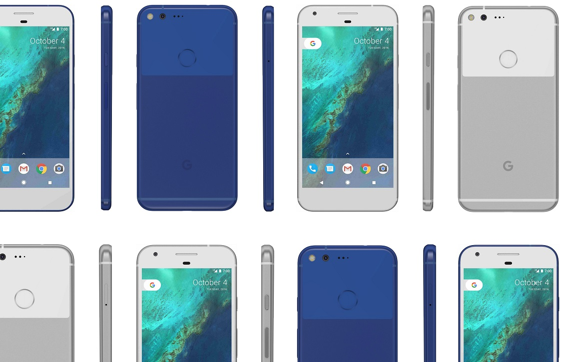 Nieuwe renders tonen Google Pixel 2 en Pixel 2 XL in vol ornaat