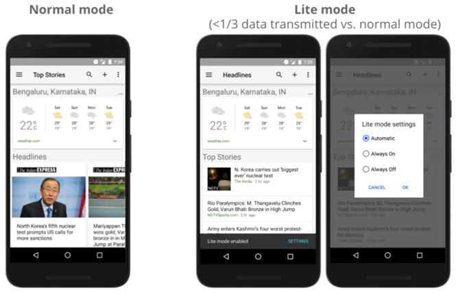Google-app Lite Mode