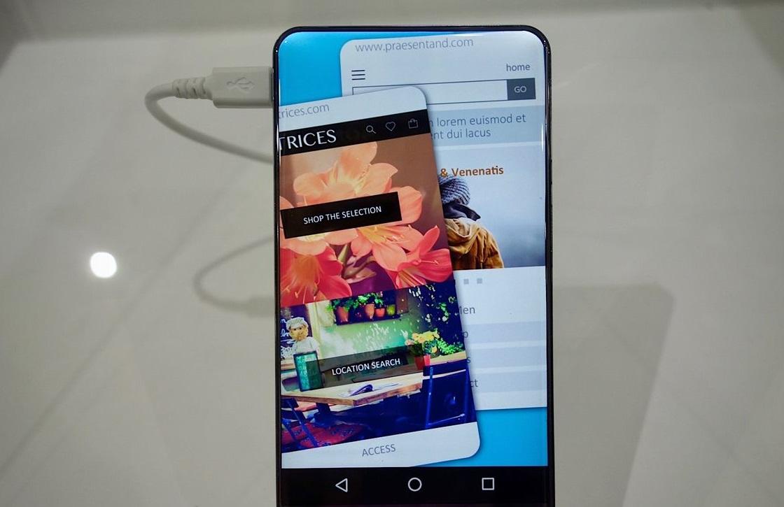 Dit is hoe een smartphone zonder schermranden eruit ziet