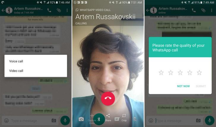 WhatsApp Beta videobellen