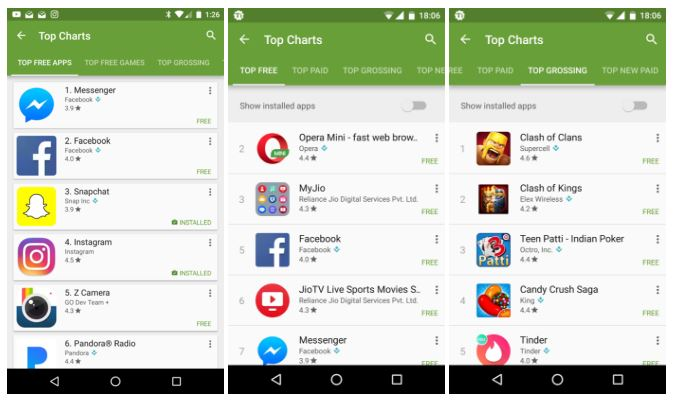 Play Store Populaire Apps