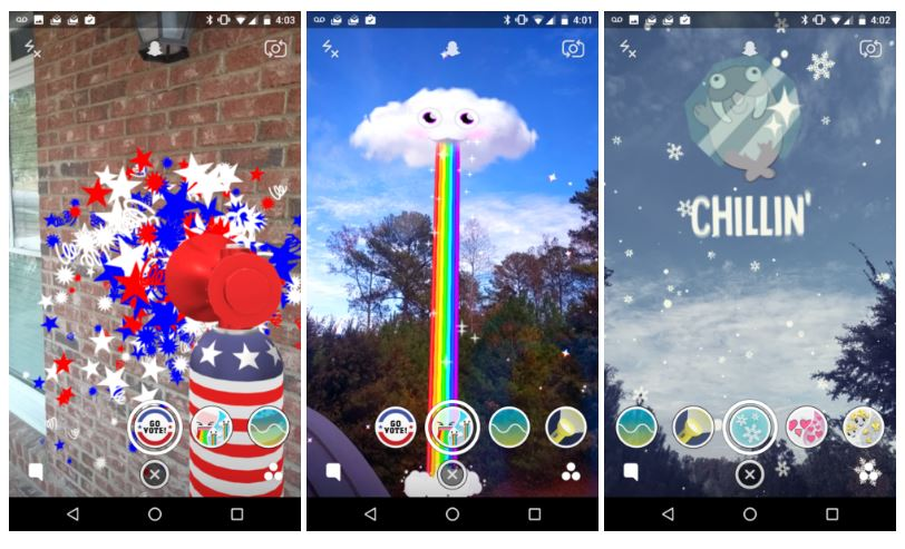 Snapchat World Lenses