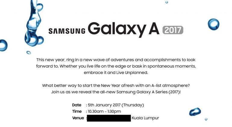 Galaxy A (2017) aankondiging