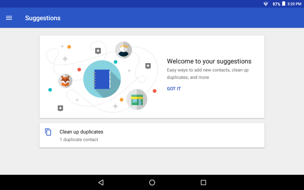 Google Contacten suggesties