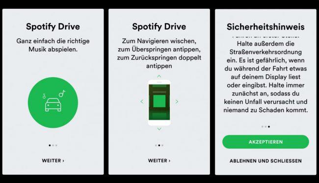 Spotify Drive bèta