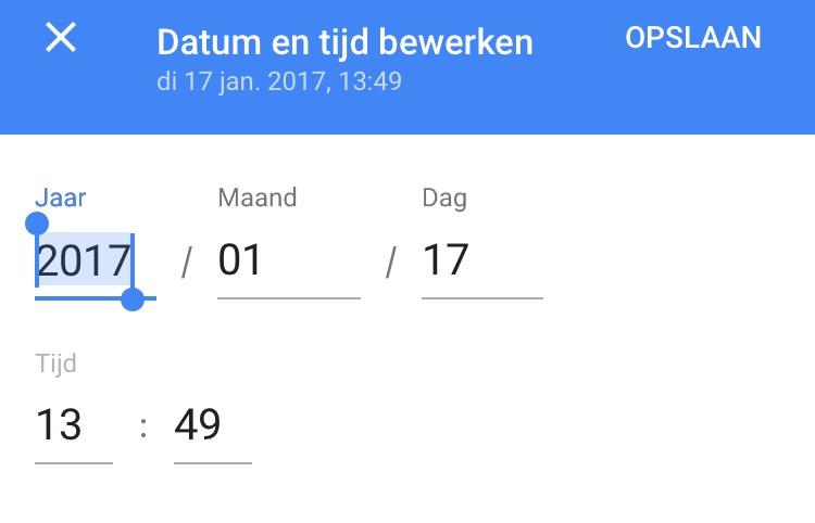google foto's datum