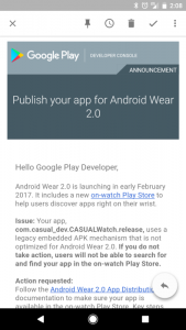 android wear 2.0 release