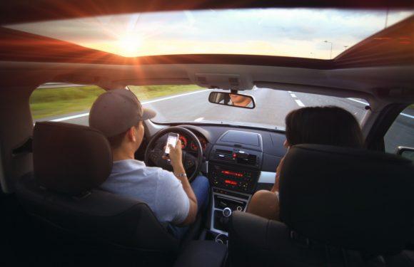 smartphone auto boete