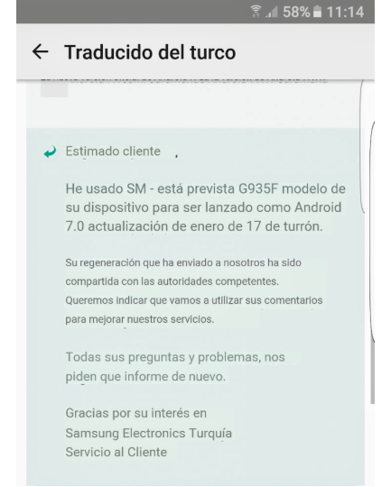 Galaxy S7 Edge Android Nougat-update