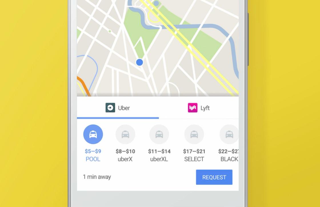 Zo bestel je een Uber-rit vanuit Google Maps