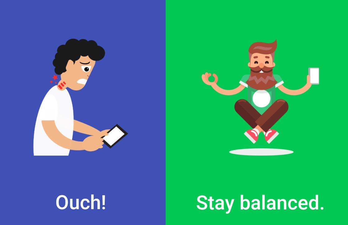Posture helpt met de juiste houding bij smartphonegebruik